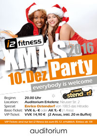 Am 10. Dezember findet unser<br>XMAS-Party statt!