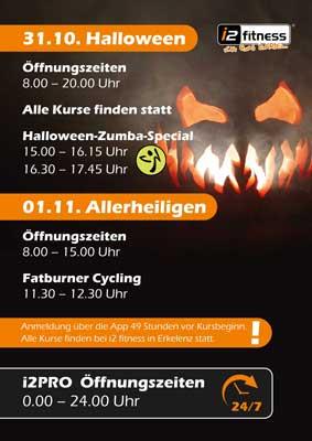Öffnungszeiten & Event:<br> Halloween & Allerheiligen