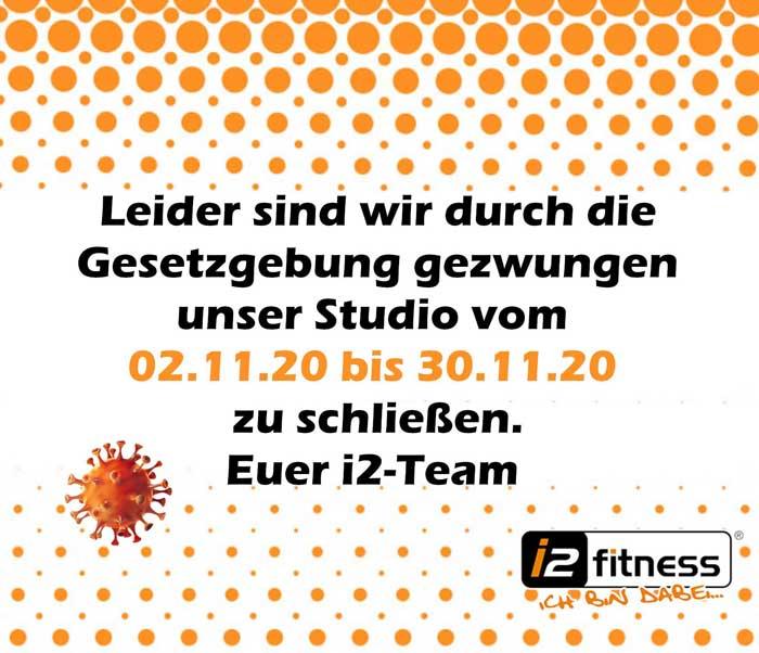 Vom 2. – 30. November<br> bleiben die Studios geschlossen