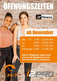 Unsere neuen Öffnungszeiten<br> gelten ab November.
