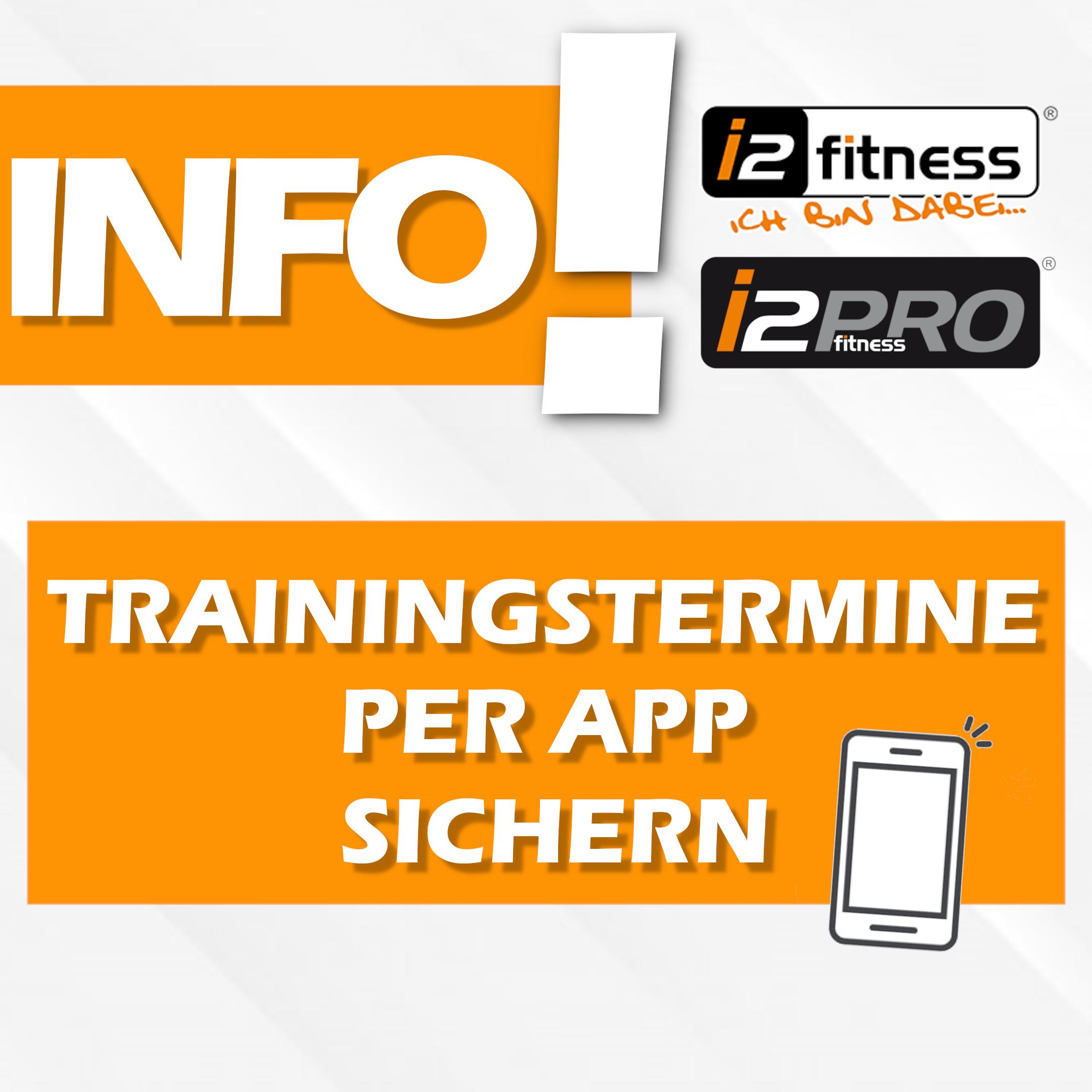 Trainingstermine über <br> APP oder Website buchen.