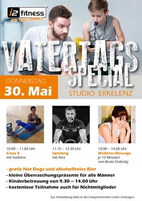 Vatertags-Special<br>  am 30. Mai.