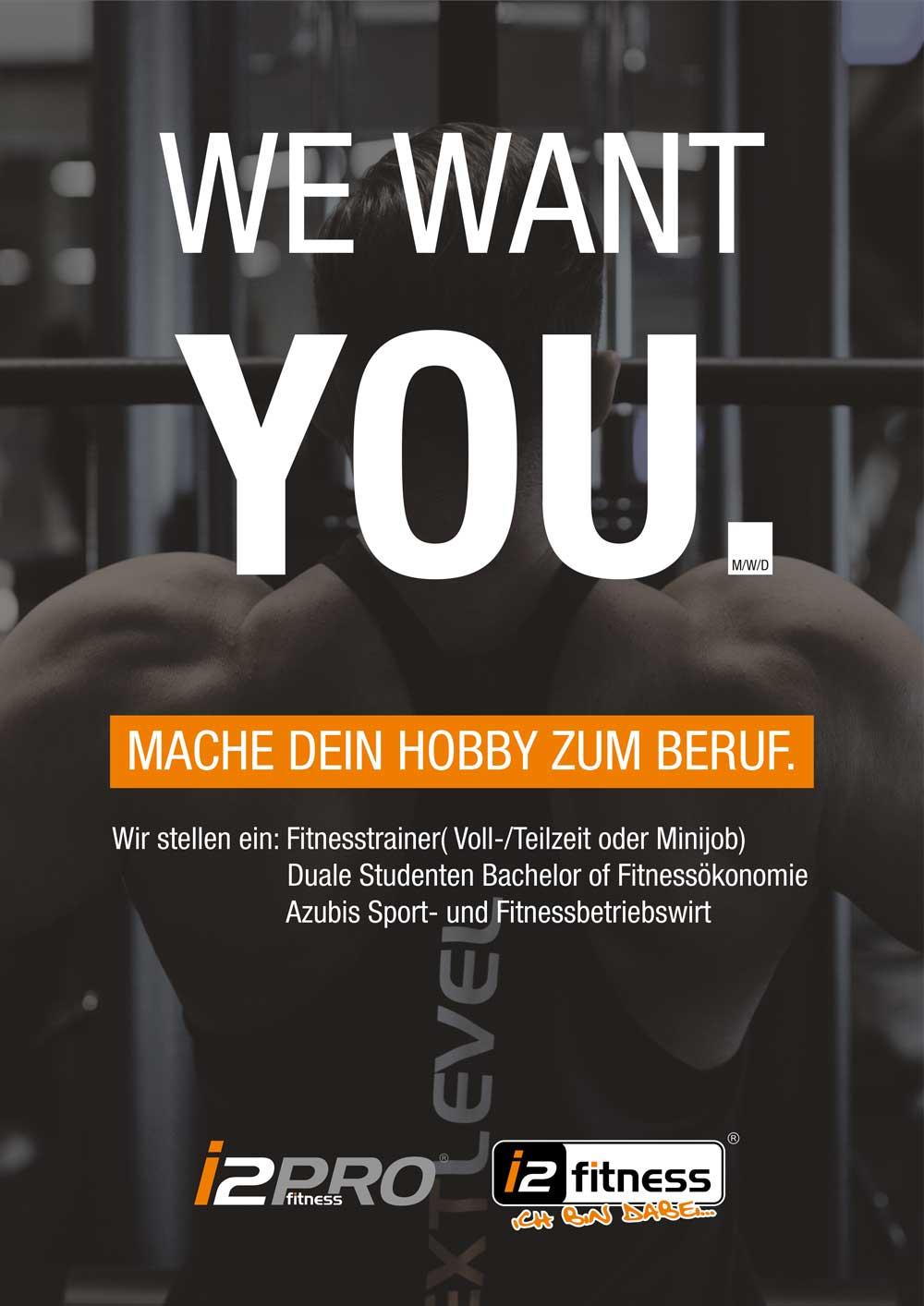 Wir suchen Dich!<br> Mache dein Hobby zum Beruf.